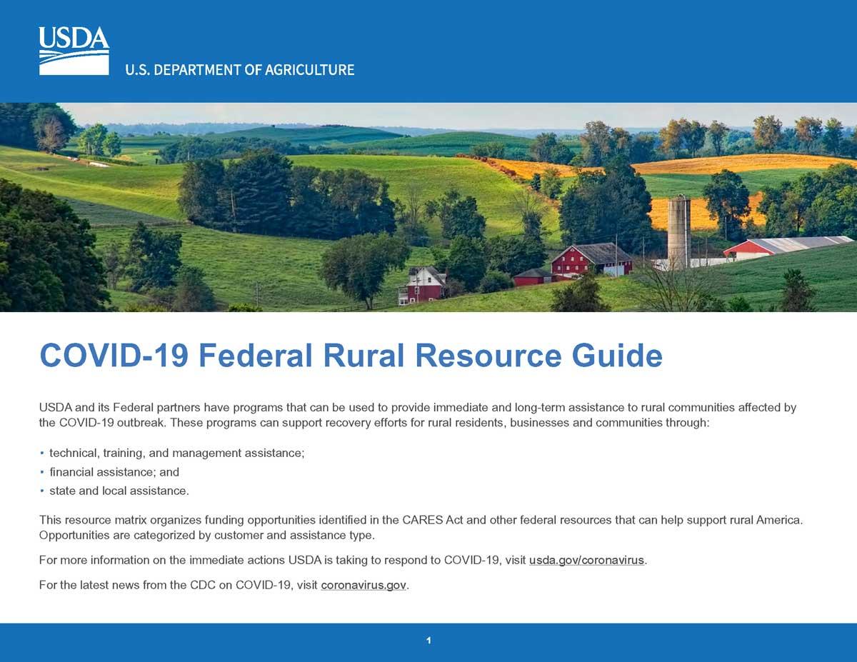 Federal USDA Rural Resource Guide