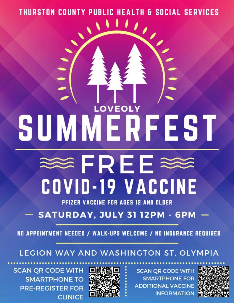 Mobile Vaccine Clinic Returning to LoveOly Summerfest July 31